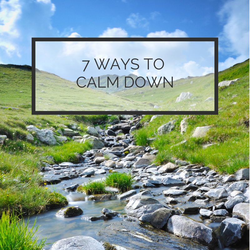 7 ways to calm down